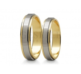 Klasyczne obrączki ślubne z dwóch kolorów kruszcu - białego i żółtego