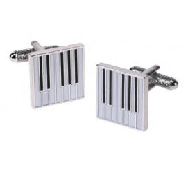 Zabawne spinki do mankietów pianino ze stali szlachetnej dla miłośnika muzyki muzyka artysty na prezent!