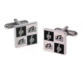 Ciekawe i eleganckie spinki do mankietów ze stali z motywem muzycznym idealne na prezent dla chłopaka mężczyzny!