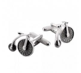 Spinki do mankietów rower cyrkowy dla chłopaka zabawny dodatek do garnituru!