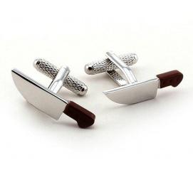 Oryginalne spinki do mankietów w kształcie noży prezent dla szefa kuchni lub kucharza!