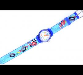 Dla fanów czterech kółek - uroczy zegarek z ozdobnym paskiem z motywem samochodów