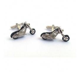 Oryginalne spinki męskie dla wielbicieli motorów - stalowe choppery