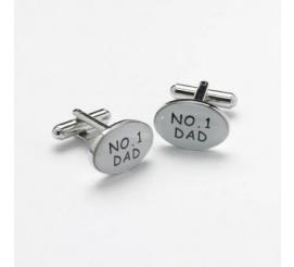 Dla najlepszego taty na świecie! - oryginalne spinki z napisem NO. 1 DAD