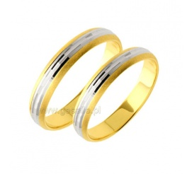 Ozdobne obrączki ślubne z dwóch kolorów złota pr. 585 z kolekcji Amare Forever