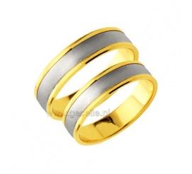 Obrączki ślubne w minimalistycznym stylu - dwa kolory złota, gładka powierzchnia i wyoblone wnętrze