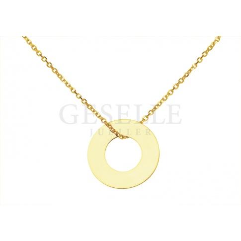 Lśniąca celebrytka z żółtego złota pr. 585 z pięknym kółeczkiem - wybór wielu gwiazd!