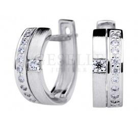 Luksusowe kolczyki z białego złota z brylantami o łącznej masie 0,30 ct - do kompletu z pierścionkiem