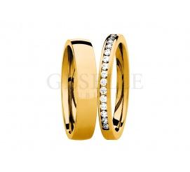 Niezwykle popularne złote obrączki ślubne z kolekcji ESSENCE z brylantami o łącznej masie 0,22 ct