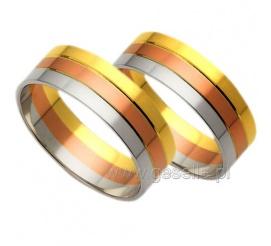 Niezwykłe obrączki ślubne z kolekcji Amare Forever z trzech kolorów złota