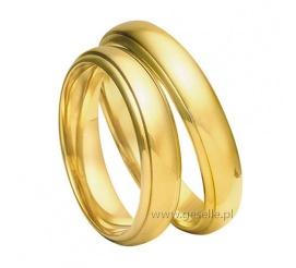 Tradycyjne obrączki ślubne z żółtego złota próby 585 z kolekcji Amare