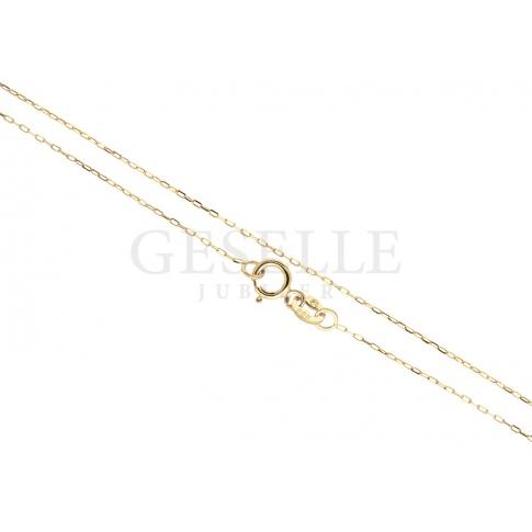 Uniwersalny, złoty łańcuszek o splocie ankier o długości 42 cm - doskonały do zawieszek!