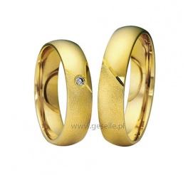 Delikatne obrączki ślubne - poler i mat - z klasycznego złota próby 585