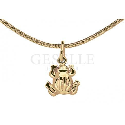 Urocza zawieszka w kształcie żabki z żółtego złota próby 585