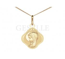Elegancki medalik z żółtego złota próby 333 - doskonały prezent z okazji przystąpienia do sakramentu Komunii