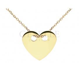 Biżuteria gwiazd - modna celebrytka z żółtego złota próby 585 z serduszkiem
