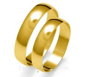 Komplet obrączek ślubnych z kolekcji Złoty Skorpion z żółtego, 14-karatowego złota