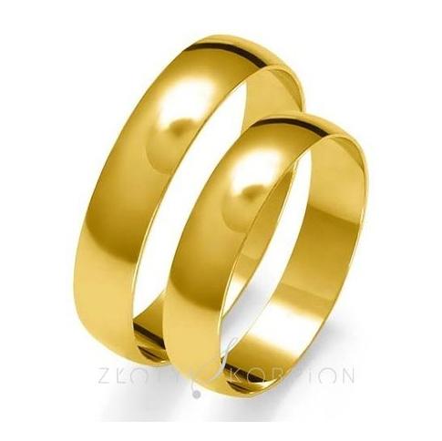 Komplet obrączek ślubnych z kolekcji Złoty Skorpion z żółtego, złota