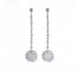 Fantastyczne kolczyki z kolecji ślubnej o kwiatowym wzorze z kryształami Swarovski Elements