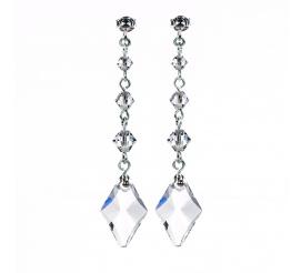 Delikatne, wiszące kolczyki z kolecji ślubnej z kryształami Swarovski Elements