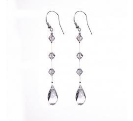Zachwycające wiszące kolczyki z kryształami Swarovski Elements - kolekcja ślubna