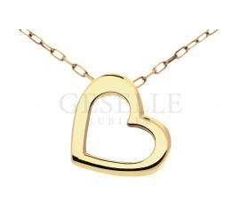 Urocza zawieszka w kształcie serduszka-ramki wykonana z klasycznego złota