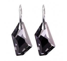 Wyjątkowe kolczyki z kryształem Swarovskie Elements w zachwycającym kolorze Silver Night
