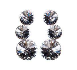 Delikatny komplet kolczyków z kryształami Swarovski ELEMENTS w odcieniu CRYSTAL