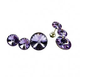 Komplet kolczyków z kryształami Swarovski ELEMENTS w niepowtarzalnym odcieniu  Vitrail Light
