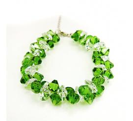 Wyjątkowa bransoletka z kryształami Swarovski Elements w odcieniu Fern Green