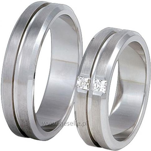 Eleganckie obrączki ślubne z białego kruszcu z kolekcji Exclusive