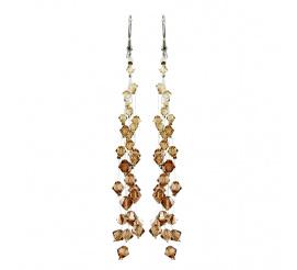 Olśniewająca para kolczyków wykonana z kryształów Swarovski Elements w odcieniach złota - kolekcja Casual