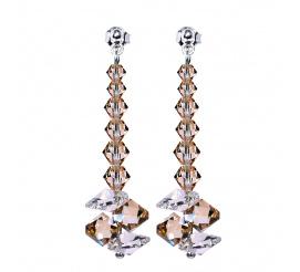 Wyjątkowo efektowny komplet kolczyków wykonany z kryształów Swarovski Elements - kolekcja Casual