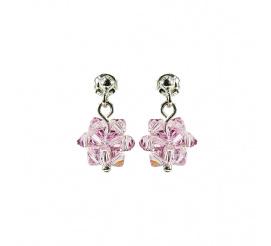 Delikatny duet kolczyków z kryształami Swarovski ELEMENTS w odcieniu Light Amethyst z kolekcji Casual
