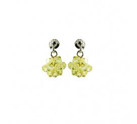 Subtelny duet kolczyków z kryształami Swarovski ELEMENTS w odcieniu Jonquil z kolekcji Casual