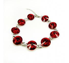 Elegancka bransoletka z kryształami Swarovski Elements o intensywnej barwie Light Siam  z kolekcji Casual
