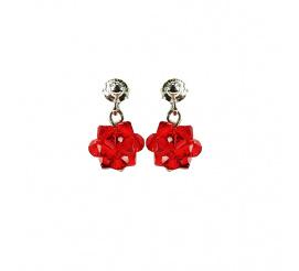 Ciekawa para kolczyków z kryształami Swarovski ELEMENTS z kolekcji Casual w kolorze Light Siam