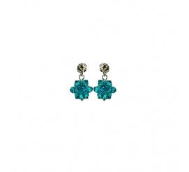 Wyjątkowa para kolczyków z kryształami Swarovski ELEMENTS z kolekcji Casual w kolorze Blue Zircon