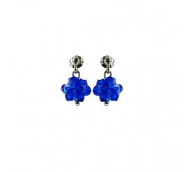 Olśniewająca para kolczyków z kryształami Swarovski ELEMENTS z kolekcji Casual w kolorze Capri Blue