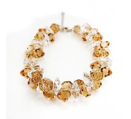 Olśniewająca bransoletka z kryształami Swarovski Elements o wyjątkowej barwie Light Colorado Topaz i Crystal z kolekcji Casual