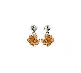 Lśniący duet kolczyków z kryształami Swarovski ELEMENTS w odcieniu Light Colorado Topaz   z kolekcji Casual