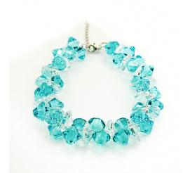 Urocza bransoletka z kryształami Swarovski Elements o pięknej barwie Light Turquoise  z kolekcji Casual
