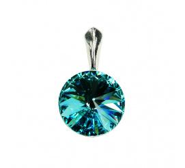 Urocza zawieszka z kryształem Swarovski Elements w kolorze Light Turquoise z kolekcji Casual