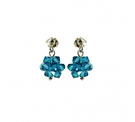 Subtelna para kolczyków z kryształami Swarovski ELEMENTS w odcieniu Indicolite  z kolekcji Casual