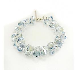 Pełna blasku bransoletka z kryształami Swarovski Elements o pięknej barwie Blue Shade oraz Crystal  z kolekcji Casual