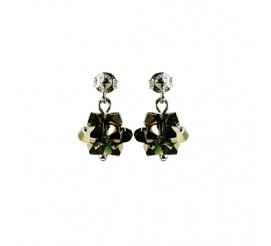 Pełna blasku para kolczyków z kryształami Swarovski ELEMENTS z kolekcji Casual w kolorze Metallic Light Gold