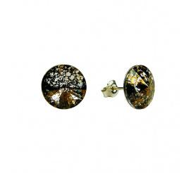 Olśniewająca para kolczyków z kryształami Swarovski ELEMENTS w odcieniu Crystal Gold Patina z kolekcji Casual