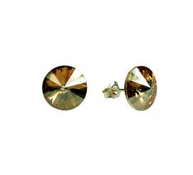 Lśniąca para kolczyków z kryształami Swarovski ELEMENTS w odcieniu Crystal Golden Shadow  z kolekcji Casual