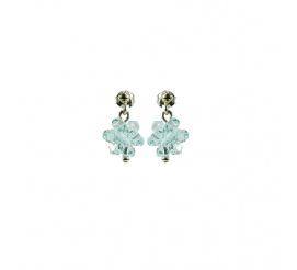 Lśniąca para kolczyków z kryształami Swarovski ELEMENTS z kolekcji Casual w kolorze Light Azore
