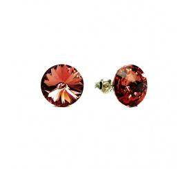 Zachwycająca blaskiem para kolczyków z kryształami Swarovski ELEMENTS w odcieniu Rose Peach  z kolekcji Casual